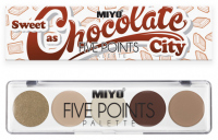 MIYO - FIVE POINTS - COLOR BOX EDITION - Paleta  5 cieni do powiek - 22 - SWEET AS CHOCOLATE CITY - 22 - SWEET AS CHOCOLATE CITY