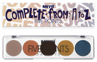 MIYO - FIVE POINTS - COLOR BOX EDITION - Paleta  5 cieni do powiek - 23 - COMPLETE FROM A TO Z - 23 - COMPLETE FROM A TO Z