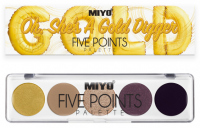MIYO - FIVE POINTS - COLOR BOX EDITION - A palette of 5 eye shadows - 24 - OH, SH'S A GOLD DIGGER - 24 - OH, SH'S A GOLD DIGGER