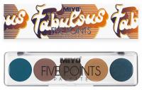 MIYO - FIVE POINTS - COLOR BOX EDITION - A palette of 5 eye shadows - 25 - FABULOUS - 25 - FABULOUS