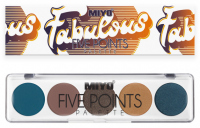 MIYO - FIVE POINTS - COLOR BOX EDITION - Paleta  5 cieni do powiek - 25 - FABULOUS - 25 - FABULOUS
