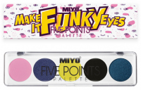 MIYO - FIVE POINTS - COLOR BOX EDITION - A palette of 5 eye shadows - 26 - MAKE IT FUNKY EYES - 26 - MAKE IT FUNKY EYES