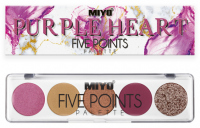 MIYO - FIVE POINTS - COLOR BOX EDITION - A palette of 5 eye shadows - 27 - PURPLE HEART - 27 - PURPLE HEART