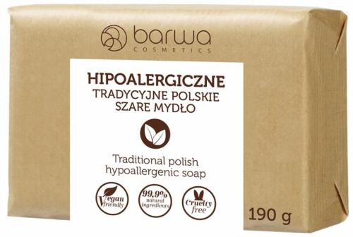 BARWA - BARWA HIPOALERGICZNA - HYPOALLERGENIC TRADITIONAL SOAP - Hipoalergiczne Szare Mydło - 190g