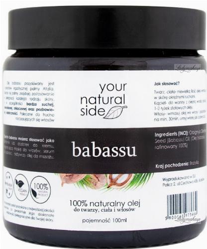 Your Natural Side - 100% naturalny olej babassu - 100 ml