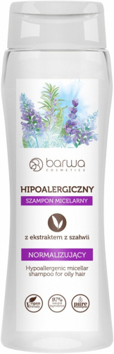 BARWA - Hipoalergiczny szampon micelarny z ekstraktem z szałwii - Normalizujący