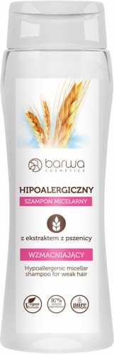 BARWA - Hypoallergenic micellar shampoo with wheat extract - Strengthening
