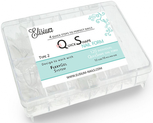 Elisium - Quick Shape Nail Form - Formy do przedłużania paznokci - 120 sztuk - TYP 2