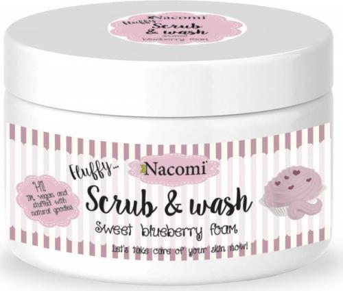 Nacomi - Scrub & Wash - Pianka peelingująco-myjąca - Słodka borówka