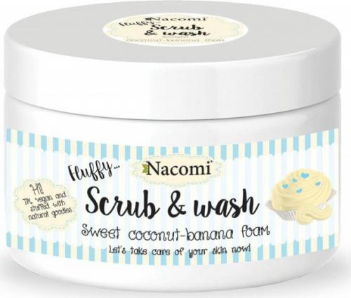 Nacomi - Scrub & Wash - Pianka peelingująco-myjąca - Kokosowo-bananowa