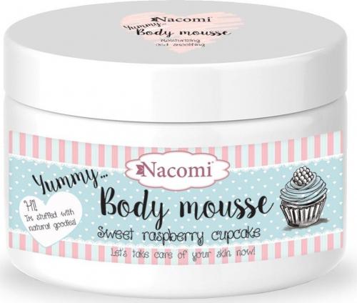 Nacomi - Body Mousse - Odżywczy mus do ciała - Malinowa babeczka
