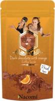 Nacomi - Dark Chocolate with Orange Coffee Scrub - Wegański peeling kawowy do ciała o zapachu gorzkiej czekolady i pomarańczy - 125g