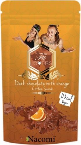 Nacomi - Dark Chocolate with Orange Coffee Scrub - Wegański peeling kawowy do ciała o zapachu gorzkiej czekolady i pomarańczy - 300g