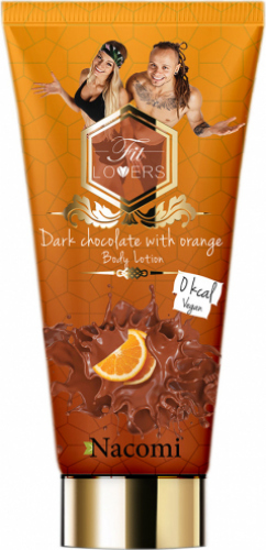 Nacomi - Fit Lovers Body lotion - Balsam do ciała - Ciemna czekolada z pomarańczą