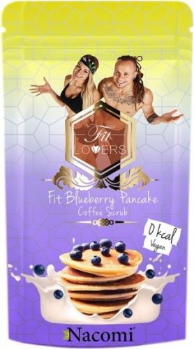 Nacomi - Fit Blueberry Pancake Coffee Scrub - Wegański peeling kawowy do ciała o zapachu naleśników z borówkami- 125g