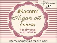 Nacomi - Argan Oil Cream - Krem do twarzy z olejem arganowym i kwasem hialuronowym - 30+