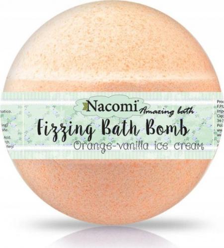 Nacomi - Fizzing Bath Bomb - Musująca kula do kąpieli - Pomarańcza z wanilią