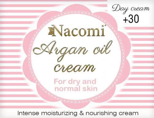 Nacomi - Argan Oil Cream - Krem do twarzy z olejem arganowym i witaminą C - 30+