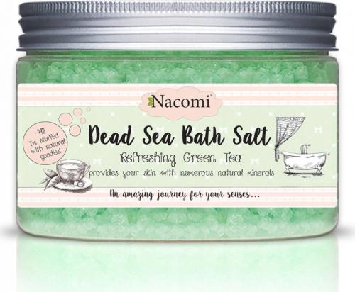 Nacomi - Dead Sea Bath Salt - Sól do kąpieli z Morza Martwego - Zielona herbata - 450g
