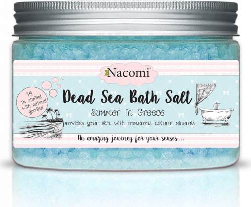 Nacomi - Dead Sea Bath Salt - Sól do kąpieli z Morza Martwego - Wakacje w Grecji - 450g