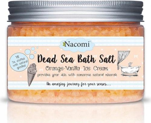 Nacomi - Dead Sea Bath Salt - Sól do kąpieli z Morza Martwego - Pomarańcza & Wanilia - 450g