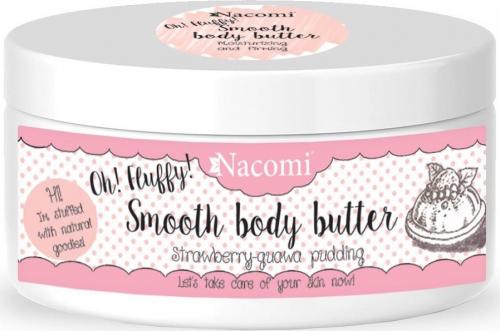 Nacomi - Smooth Body Butter - Lekkie masło do ciała - Truskawkowy pudding z gujawą