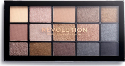 Makeup Revolution - RE-LOADED Shadow Palette - zestaw 15 cieni do powiek - SMOKY NEUTRALS