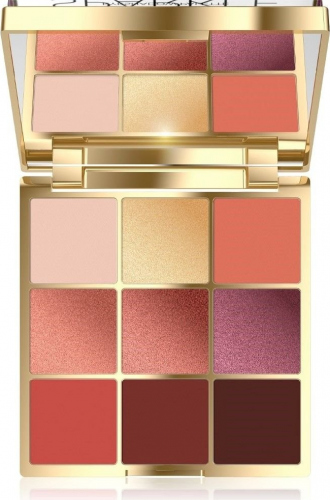 Eveline - SPARKLE EYESHADOW PALETTE - Paleta 9 cieni do powiek