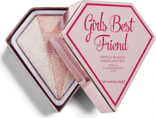 I HEART REVOLUTION - DIAMOND - TRIPLE BAKED HIGHLIGHTER - Rozświetlacz do twarzy - Girls Best Friend