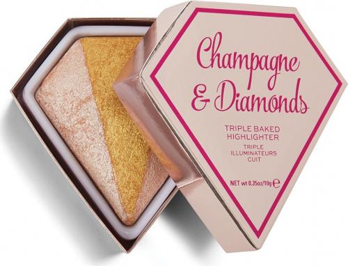 I Heart Revolution - DIAMOND - TRIPLE BAKED HIGHLIGHTER - Face highlighter - Champagne & Diamonds