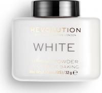 MAKEUP REVOLUTION - WHITE - LOOSE BAKING POWDER - Sypki puder do twarzy