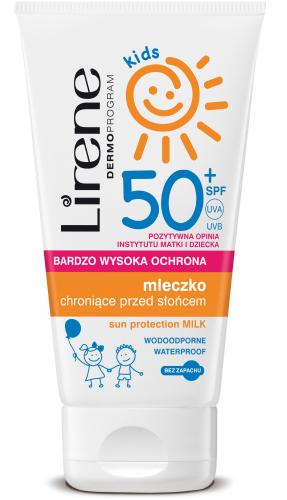 Lirene - Kids - Wodoodporne mleczko chroniące przed słońcem dla DZIECKA - SPF50 - 150ml