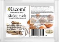 Nacomi - Shaker Mask - Maska do twarzy z olejem arganowym i glinką Ghassoul - Peel Off - 25g