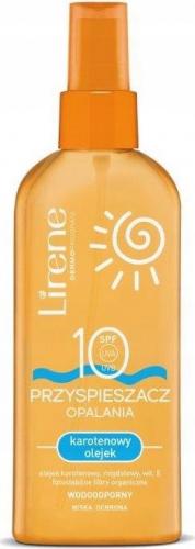 Lirene - PRZYSPIESZACZ OPALANIA - karotenowy olejek - SPF10 - 150 ml