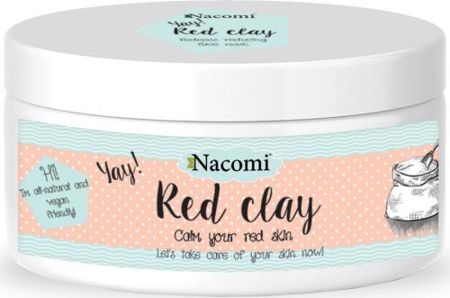Nacomi - Red Clay - Czerwona glinka do twarzy