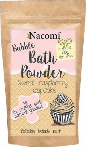 Nacomi - Bath Powder - Puder do kąpieli - Malinowa babeczka - 100g + 50g