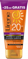 Lirene - SUN PROTECTION emulsion for tanning - SPF20 - 150 ml + 25 ml