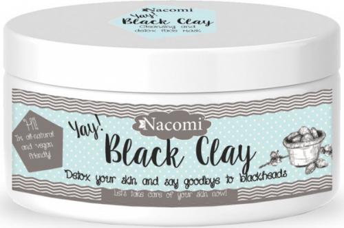 Nacomi - Black Clay - Czarna glinka do twarzy - 90g