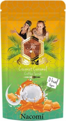 Nacomi - Coconut Caramel Coffee Scrub - Wegański peeling kawowy do ciała o zapachu kokosa i karmelu - 300g