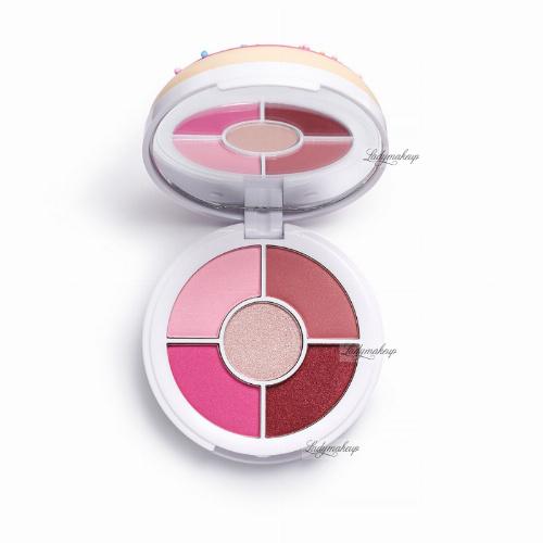 I HEART REVOLUTION - Dounats Eyeshadow Palette - Paleta 5 cieni do powiek - Raspberry Icing