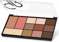 Golden Rose - CITY STYLE - Face & Eye Palette - Face makeup palette - 01 WARM NUDE