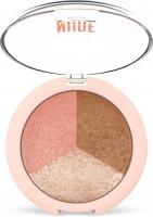 Golden Rose - NUDE LOOK - Baked Trio Face Powder - Zestaw 3 wypiekanych pudrów do konturowania twarzy