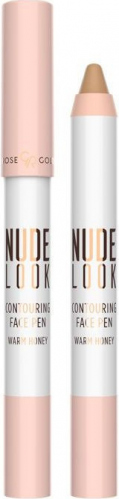 Golden Rose - NUDE LOOK - Contouring Face Pen - Bronzer do konturowania w kredce - WARM HONEY