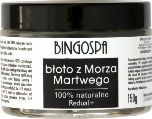 BINGOSPA - Redual+ 100% Natural Mud for Face and Body - 100% naturalne błoto z Morza Martwego - 150g