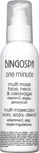 BINGOSPA - One Minute - Multi Mask Face, Neck & Cleavage - Multi maseczka na twarz, szyję i dekolt - 150g