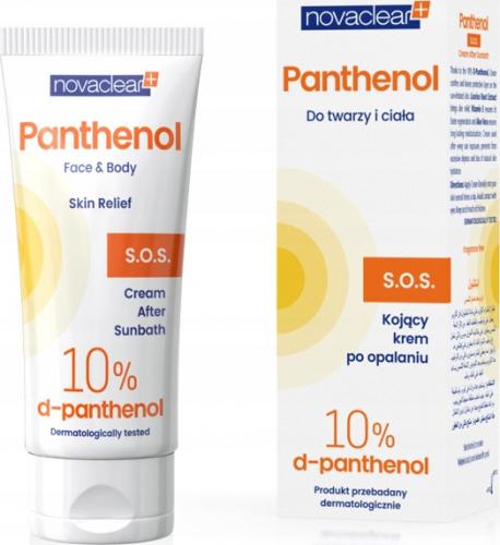 NovaClear - Panthenol S.O.S. Cream - Kojący krem po opalaniu do twarzy i ciała - 50 ml