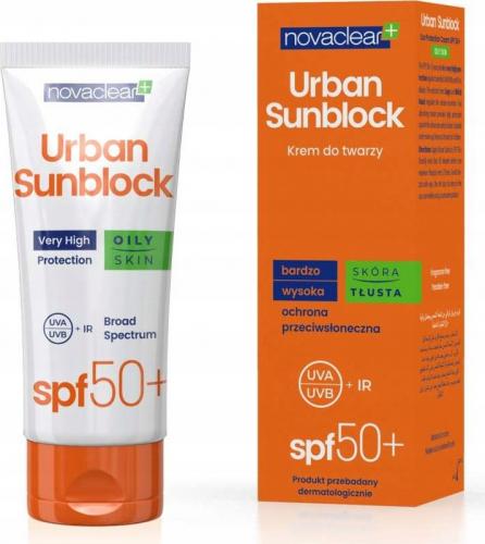 NovaClear - Urban Sunblock Cream - Krem ochronny do skóry tłustej - SPF50 - 40 ml