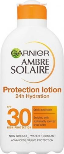 GARNIER - AMBRE SOLAIRE - PROTECTION LOTION - Wodoodporny, nawilżający balsam ochronny - SPF30