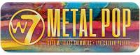 W7 - METAL POP - EYE COLOUR PALETTE - Paleta 12 metalicznych cieni do oczu