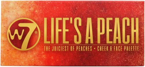 W7 - LIFE`S A PEACH - CHEEK & FACE PALETTE - Paleta 5 róży do policzków